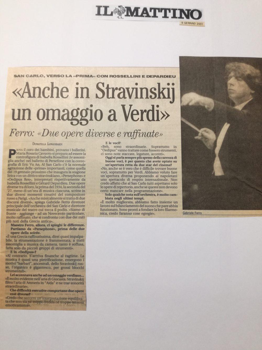 mattino 26 gennaio 2001